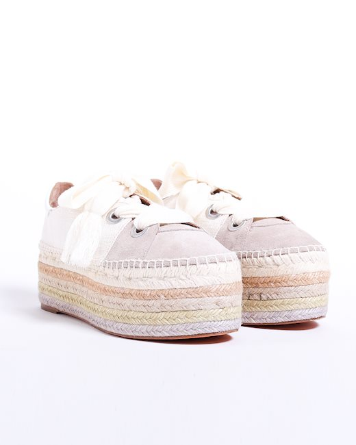 20a45729f CHLOÉ Lace-up canvas espadrilles - Artishock Luxury and exclusive ...
