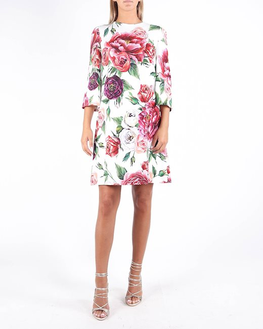 6b784416 DOLCE & GABBANA 'Peony' printed dress - Artishock Luxury and ...
