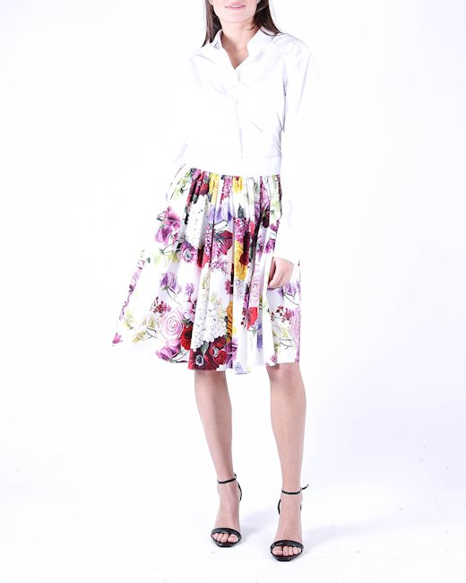 5f783416 DOLCE & GABBANA White floral skirt - Artishock Luxury and exclusive ...
