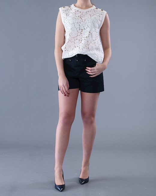 f33bcda7c0571e DOLCE & GABBANA White lace top - Artishock Luxury and exclusive fashion