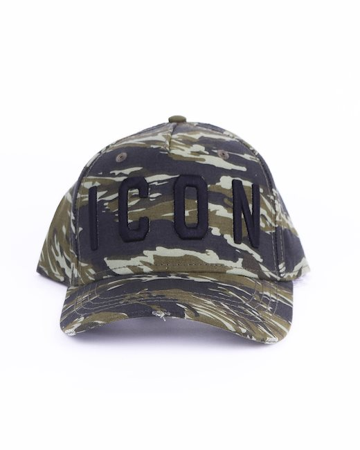 575a4cdf9 Green camouflage cap