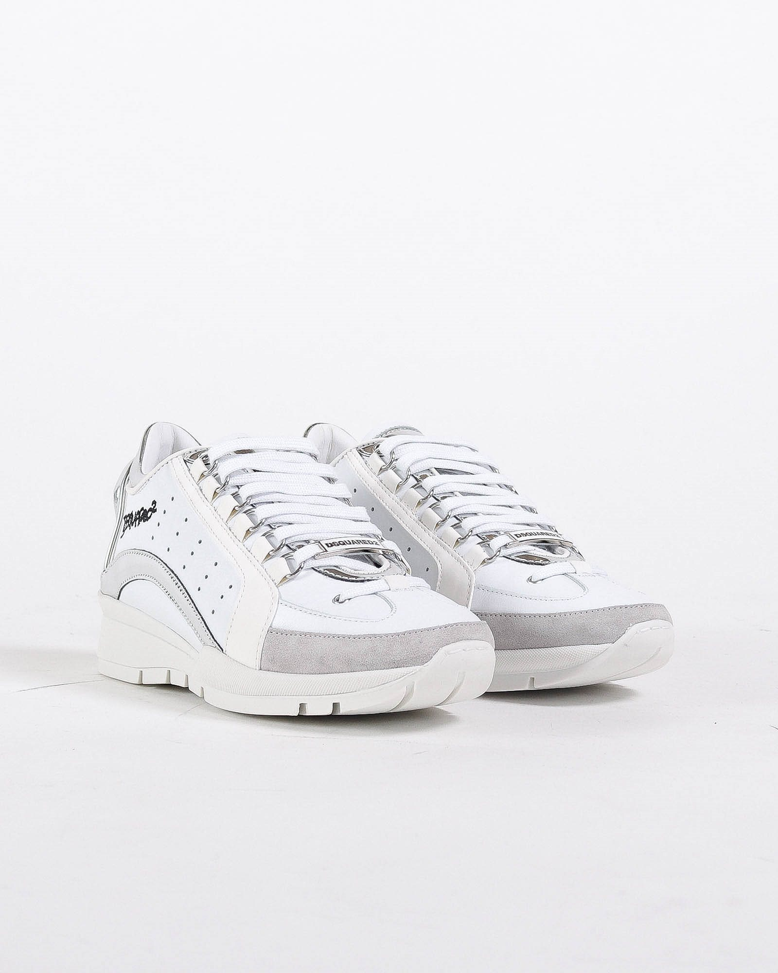 DSQUARED2 White sneaker with silver