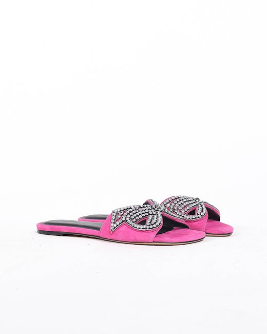 59522c8a52 ISABEL MARANT Pink slippers - Artishock Luxury and exclusive fashion