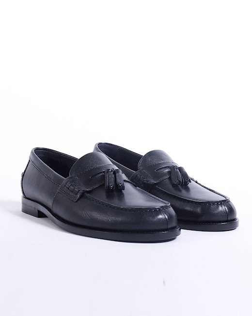 d65641278bf SAINT LAURENT Black leather loafers - Artishock Luxury and exclusive ...